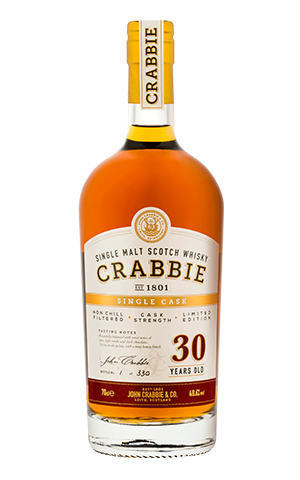 Crabbies 30 year old whiskey