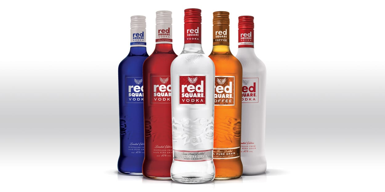 The Red Square Vodka range