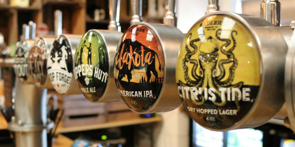 Sadler's Brewery Beers on Bar pumps