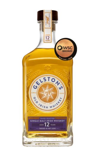 Gelston's Irish Single Malt Whiskey Aged 12 Years Finished in Port Casks