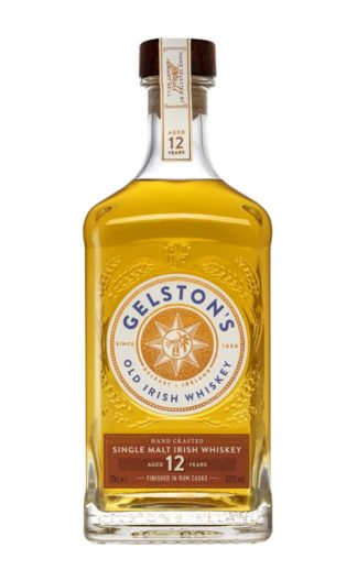 Gelston's Irish Single Malt Whiskey Aged 12 Years Finished in Rum Casks