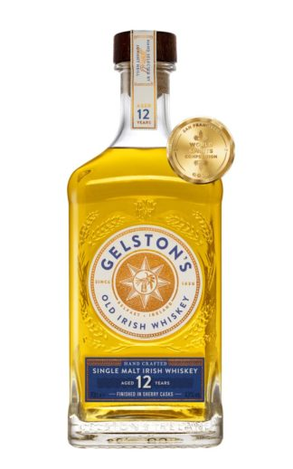 Gelston's Irish Single Malt Whiskey Aged 12 Years Finished in Sherry Casks