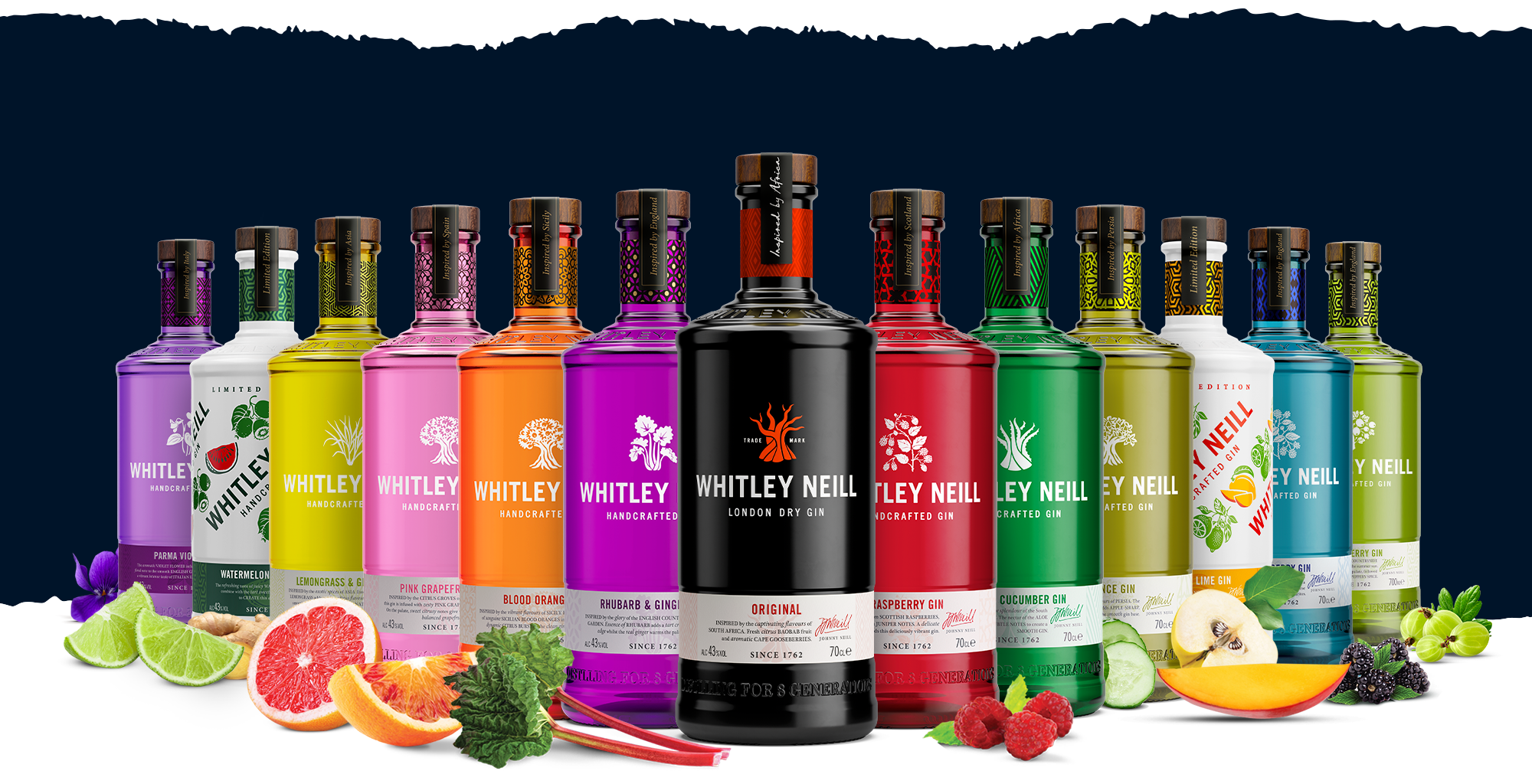 Whitley Neill Gin Family